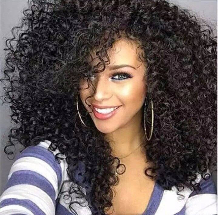 Kinky Curly Afro Black Wig - High Temperature Heat Resistant Silk Fibre
