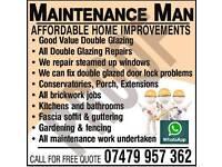 Maintenance Man cheap double glazing