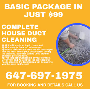GET YOUR DUCTS CLEANED THIS OCTOBER AND AVAIL 25% OFF