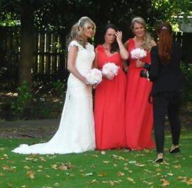 2 terracotta brides maids dresses