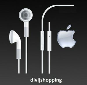 Original Apple IPhone Headphones Earphones REMOTE Amp MIC