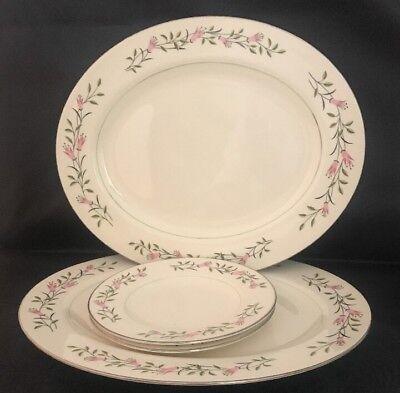 Homer Laughlin Cavalier Eggshell Platters And Bread Plates CV72 A58N5 4 Piece