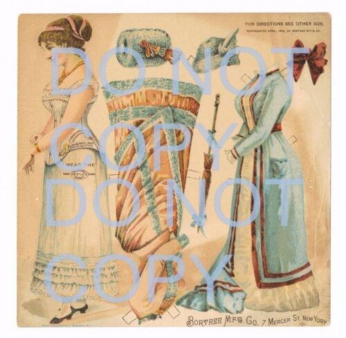 1886 DUPLEX CORSET AD AVERTISEMENT Paper Doll Bortree Mfg Co NY