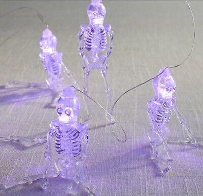 Pier 1 One Skeleton Halloween Glimmer String LED Purple Lights 10 Feet NEW - Pier 1 Halloween Lights