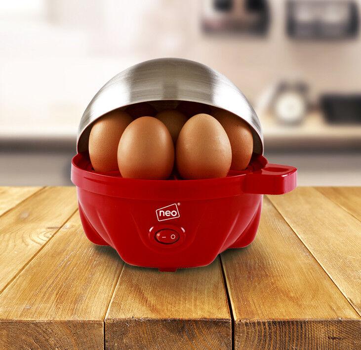ROSSO ELETTRICO uova fornello BOILER BRACCONIERE & Pentola a vapore per 7 uova