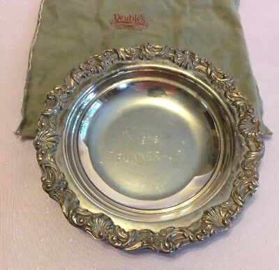 Vintage OLD COLONY Silverplated Bowl # 521 GOLF TROPHY AWARD Mono 1978 Runner Up