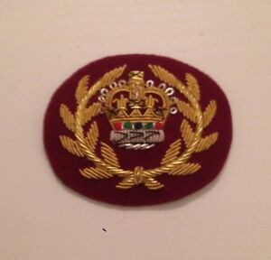 WO2 RQMS Crown & Wreath, Warrant Officer, Mess Dress, Army, Medical Cherry, RAMC