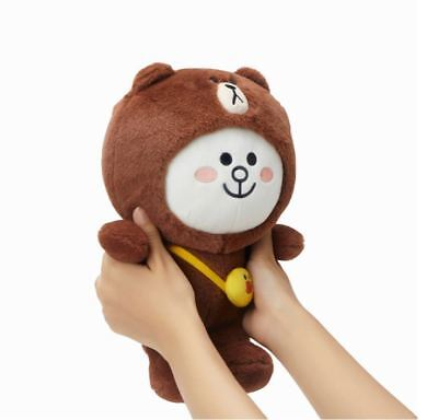 LINE FRIENDS 2018 Christmas Edition BROWN Plush Doll 25cm  Free Tracking