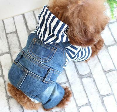 Blue Jeans Clothes - Blue Soft Dog Puppy  Jeans Cat Pet Shirt Clothes for Small Dogs