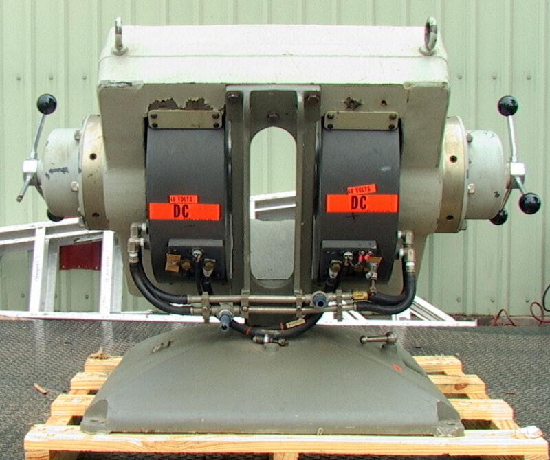 16 KW Varian V3703 double adjustable pole electromagnet assembly liquid cooled w
