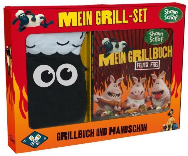 Kochbuch Shaun das Schaf - Mein Grill Set Rezepte Grillbuch + Handschuh X47E2777