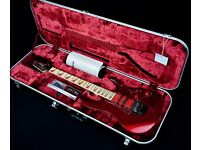SIGNED BY JOE SATRIANI! IBANEZ RG770DX REISSUE RUBY RED & IBANEZ J-CRAFT CASE