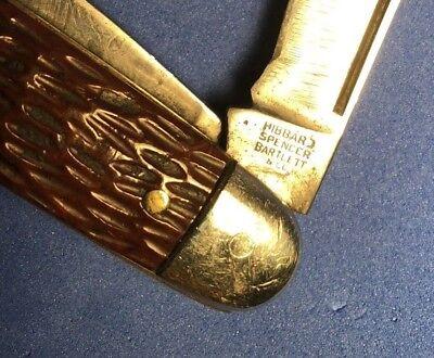 """Nice 1930s HIBBARD SPENCER BARTLETT CATTLEMEN's KNIFE 3 1/2"""""""