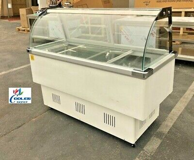 New 58 Ice Cream Gelato Freezer Display Case 16 Pan Included Model F16