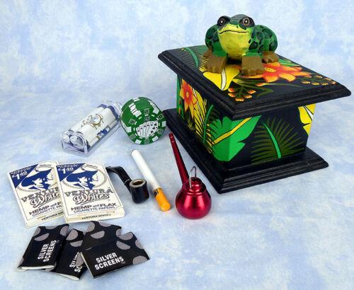 Magic frog rainforest stash box with smoking paraphernalia
