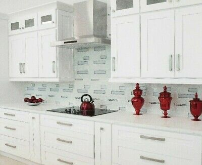 10x10 All Solid Wood KITCHEN CABINETS Shaker White RTA New