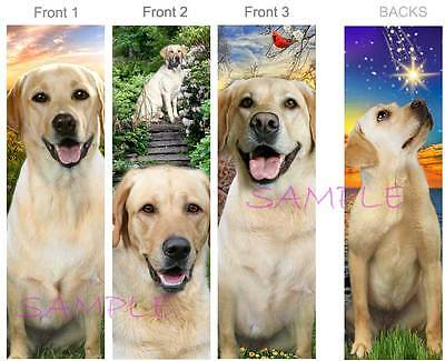 3-LABRADOR RETRIEVER BOOKMARK Yellow Golden Lab Wish Upon a Star ART Book Card for sale  Shipping to India