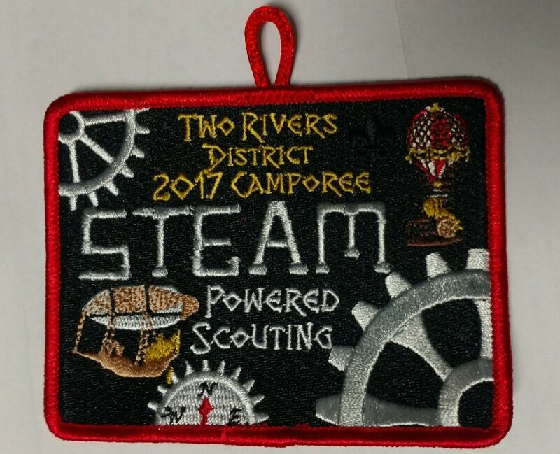 2017 Piedmont Council Two Rivers District Camporee Steam Powered Scouting Patch