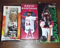 █ ♣ █ BOBBLE HEADS & GNOME baseball / hockey █ ♣ █