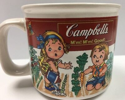 Campbell Soup Co. Mug 14oz Cup 1999 Kids In Veggi Garden By Westwood