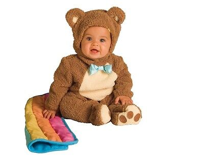 Oatmeal Bear Costume Boys Girls Childs Toddler Kids Jumpsuit Blanket Brown NEW