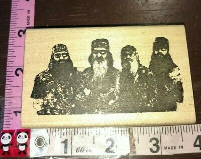 Duck dynasty men, very rare find, b10,wood,rubber stamp for sale  Bethesda