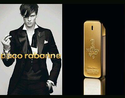 Paco Rabanne 1 One Million Eau De Toilette For Men 6ml Spray 70+SPRAYS In GOLD