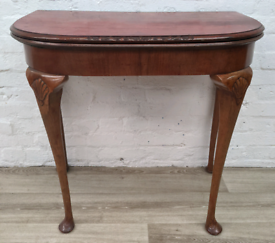 Queen Anne Style Card Table (DELIVERY AVAILABLE)
