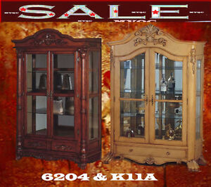 jewelry cabinets, display cabinets, china cabinet, b6204 & K11A.