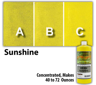 Professional Easy To Apply Water Based Concrete Stain Sunshine Yellow 8oz