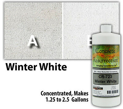 Professional Easy To Apply Water Based Concrete Stain - Winter White