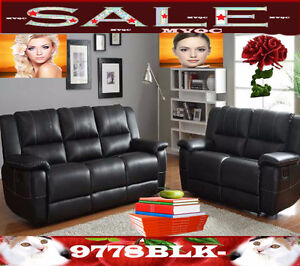 sectional living room furniture sofas sets, love seats, 9778BLK