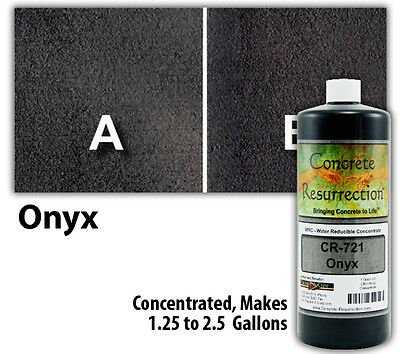 Professional Easy To Apply Water Based Concrete Stain - Onyx