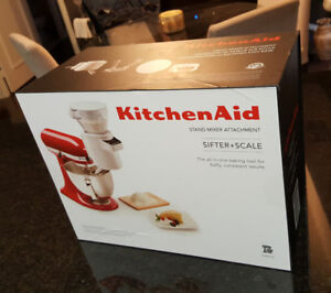 BRAND NEW  Kitchen Aid Sifter & Scale Attachment with Add-ons!