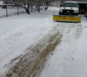 Snow plowing and snow blowing services