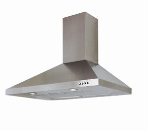 "Brand New 30"" Stainless Steel Range Hoods"