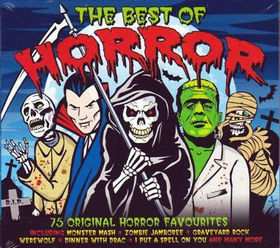THE BEST OF HORROR - 75 ORIGINAL FAVOURITES- VARIOUS ARTISTS (NEW SEALED - Best Rock Halloween Music