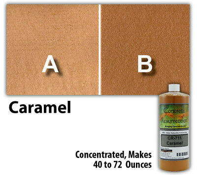 Professional Easy To Apply Water Based Concrete Stain Caramel 8oz Bottle
