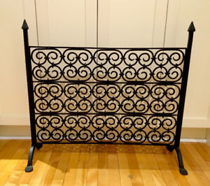 Authentic Grange wrought-iron fireplace screen