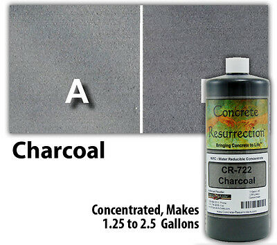 Professional Easy To Apply Water Based Concrete Stain - Charcoal