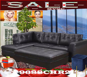 Leather sectional Ottoman sofas, love seats, arm chairs, 9688