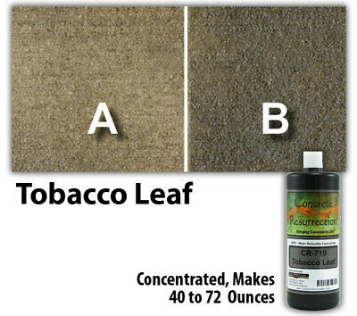 Professional Easy To Apply Water Based Concrete Stain Tobacco Leaf 8oz