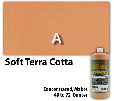 Terra Concrete - Professional Easy to Apply Water Based Concrete Stain Soft Terra Cotta 8oz