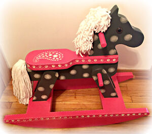 Gorgeous, One of a kind, vintage rocking horse