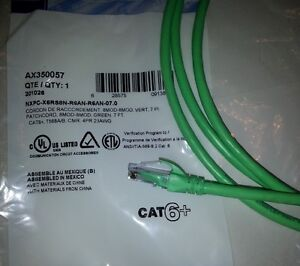 Belden AX350057 CAT6+ 7 foot, green network cable