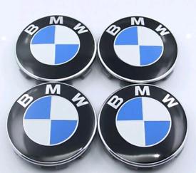 Genuine BMW alloy wheel centre caps 68mm 4Pc set