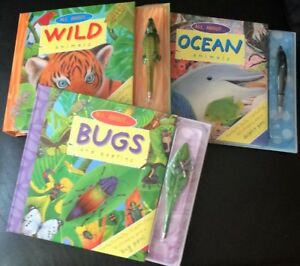 All About Bugs and Beetles, Ocean Animals & Wild Animals + Pens