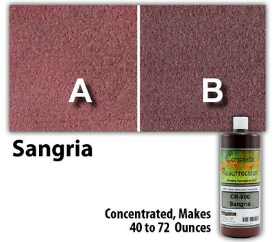 Professional Easy To Apply Water Based Concrete Stain Sangria 8oz