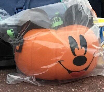 Disney 2017 Mickey's Not So Scary Halloween Party Pumpkin Popcorn Bucket NEW
