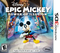 3DS Disney Epic Mickey Power of Illusion VENTE ou ÉCHANGE +...